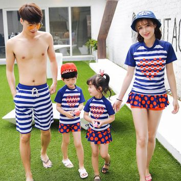 Mother and Daughter Swimsuit Father and Son Matching Clothes Family Clothing Couple Matching Swimsuit Girl Swimwear Bathing Suit