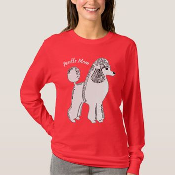 Poodle Mom Women's Deep Red Long Sleeve T-Shirt