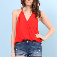 Decker Over You Halter- Red