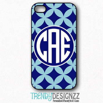 Personalized iPhone case, Samsung S3 S4, Monogram iPhone 4 case, iPhone 5 case, iPhone 4s cover, Navy Blue Monogram case, Tough Cover (1231)