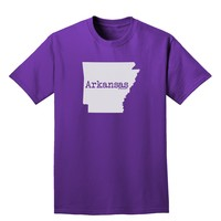Arkansas - United States Shape Adult Dark T-Shirt by TooLoud