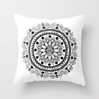 Spirit Mandala Throw Pillow by brittbolduc