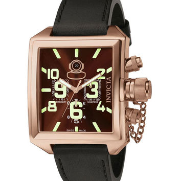 Invicta 7186 Men's Signature Russian Diver Rose Gold Tone Chronograph Watch