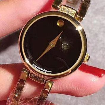 CREYV9O Movado Fashion Watch Ladies Men Watch Little Ltaly Stylish Watch Black G-YF-GZYFBY
