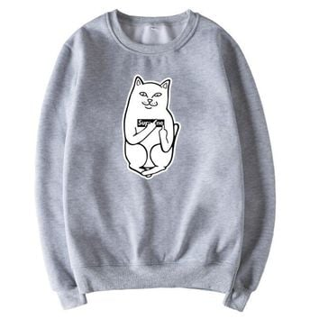 RIPNDIP XXXL Size round collar coat pullover Sweater Top