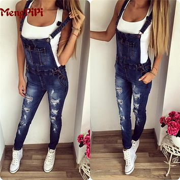 Mengpipi Womens Vintage Holes Ripped Jeans Casual Freddy Jeans Fashion Overalls Pants Trousers calcas feminina jeans