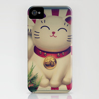 The Lucky Cat iPhone Case by RDelean | Society6