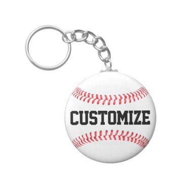 Custom Text Baseball Keychain