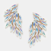 Love Rocks Jewelled Fan Earrings