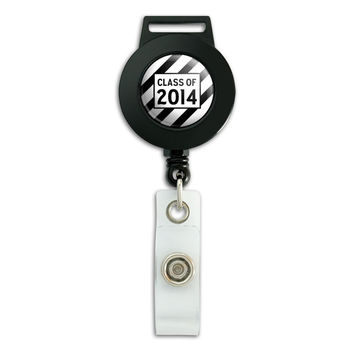 Class of 2014 Graduation Retractable Badge Card ID Holder