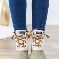 Sperry Saltwater Duck Boot - Taupe/Olive