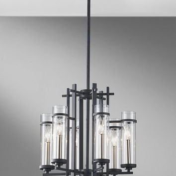 Murray Feiss Ethan 6 Light Iron / Steel Chandelier - F2631/6AF/BS