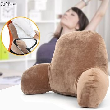 New Lounger Lumbar Pillow Back Support Office Chair Backrest Bed Reading living Room Wedge TV Decorative Cushion Home Decor