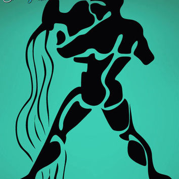 Vinyl Wall Decal Sticker Aquarius Zodiac Sign #439
