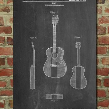 Buck Owens American Guitar Patent Poster