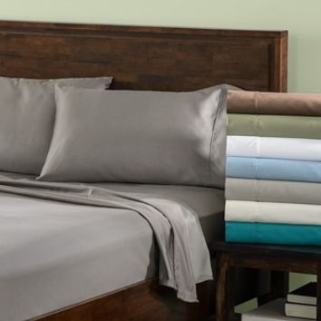 Affluence 300 Thread Count Percale Sheets | Overstock.com Shopping - The Best Deals on Sheets