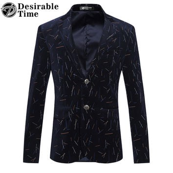 Men Slim Fit Striped Blazer Designs Plus Size 5XL 6XL Fashion Mens Casual Business Corduroy Blazers