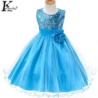 Wedding Dress Children Clothing Vestidos Girls Christmas Dresses Sequin Sleeveless Kids Princess Tutu Dresses For Girls Costume