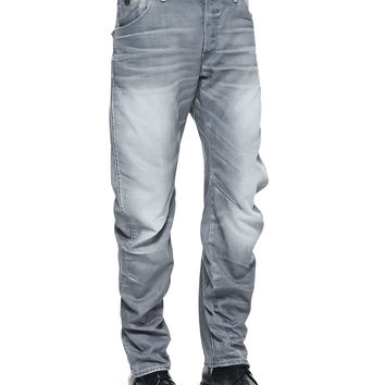 Men's Arc 3D Riley Zip Back-Pocket Jeans - G-Star - Lt.gry