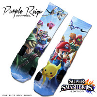 "Custom Nike Elite  ""Super Smash Bros"" Socks"