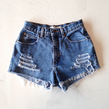 High Waist Denim Shorts Size 1 Jean Shorts