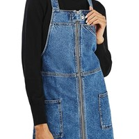 Topshop Denim Utility Pinafore Dress | Nordstrom