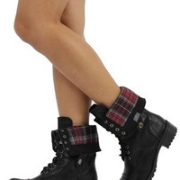 Soda Oralee Womens Military Combat Boots