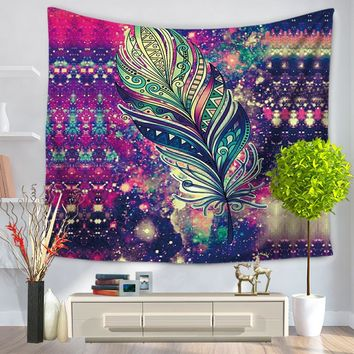Painted Feathers Tapestry Mandala Wall Hanging tapestry Indian Hanging 3D Beach Towel mandala Tapestry arazzo da parete Tapiz