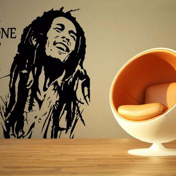 Bob Marley Reggae Rasta Jamaica Large Vinyl Transfer Stencil Decal Sticker Wall Art Home Room Decorative S M L 80 Colors