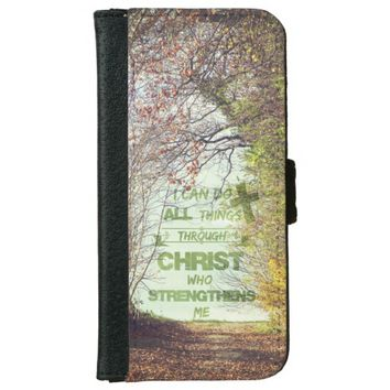 I can do all things through Christ Bible Verse iPhone 6/6s Wallet Case