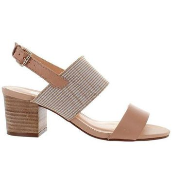 Chelsea Crew Elle   Nude Leather Sling Back Sandal