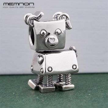Memnon Winter New 925 Sterling Silver Christmas Bot dog Charms Fit Bracelet beads For Women DIY Making Jewelry Christmas Gift