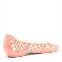 Flat Lattice Jelly Sandal