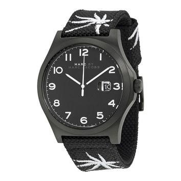 Marc By Marc Jacobs Jimmy Black Dial Black Nylon Mens Watch MBM5088