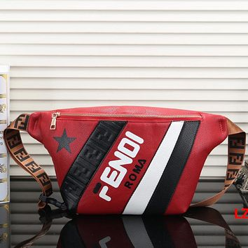 FENDI Woman Men Fashion Leather Waist Bag Crossbody Single Shoulder Bag Satchel