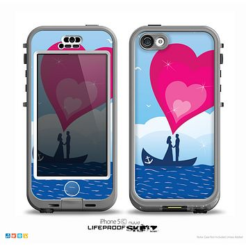 The Love-Sail Heart Trip Skin for the iPhone 5c nüüd LifeProof Case