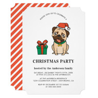 Hipster Christmas Pug | Holiday Party