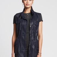 Coated Military Vest