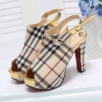Burberry Women Fashion Casual Heels Shoes