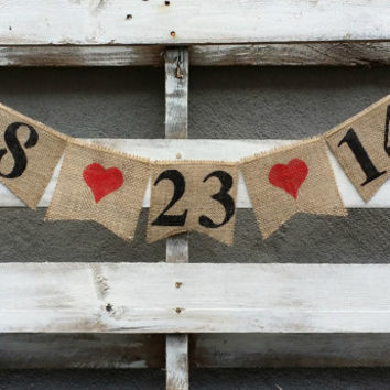 Save the Date Burlap Banner, Engagement Banner, Photo Prop, Burlap Wedding Banner, Pregnancy Annoucement