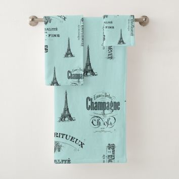 Paris Label French Aqua Towel Set