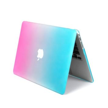 "LEIMI ® AIR 13-inch Rubberized Hard Crystal Clear Case Cover for Apple MacBook Air 13.3"" (Models: A1369 and A1466) (Rainbrow)"