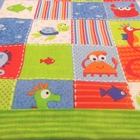 Baby Quilted Nautical Sea Creatures Blanket