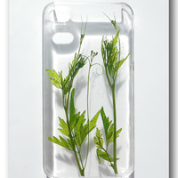 Handmade iPhone 4/4S case Resin with Nature by Annysworkshop