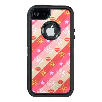 Stars Hearts Lips Pattern OtterBox Defender iPhone Case