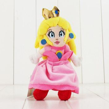 Super Mario party nes switch 22cm  Bros Princess Peach Plush Toy Pink Princess Stuffed Dolls for Kids AT_80_8
