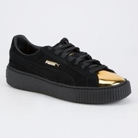 PUMA Suede Platform Gold Womens Shoes | Sneakers
