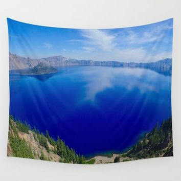 Crater Lake Wall Tapestry by Lindsey Jennings Photography