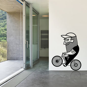 Wall decal / Bicycle / riding bike / wall decal / cycling / home decor /  wall sticker
