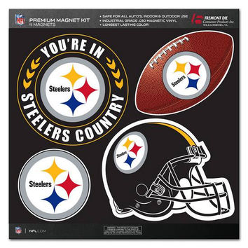 Pittsburgh Steelers Official NFL Premium Magnet Kit
